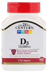 Vitamina D3 10.000 UI | 110 Tablets - 21st Century