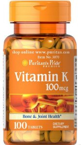 Vitamina K 100 mcg | 100 Tablets - Puritan's Pride