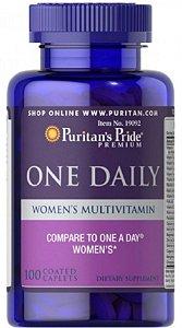 Multivitaminico Polivitaminico Diário para Mulheres | 100 caplets - Puritan's Pride