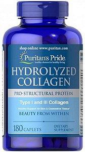 Colágeno Hidrolisado 1000 mg | 180 Caplets - Puritan's Pride