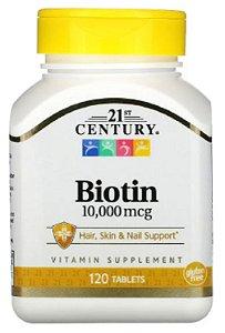 Biotina 10.000mcg | 120 tablets - 21st Century