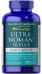 Polivitaminico Ultra Woman 50 Plus (mulheres acima de 50 anos) | 120 Caplets - Puritan's Pride