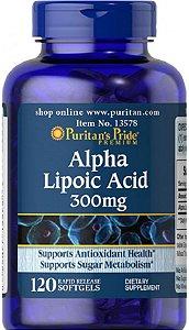 Ácido Alfa Lipóico (Alpha Lipoic Acid) 300mg | 120 Softgels - Puritan's Pride
