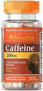 Cafeína 200mg - Liberação Sustentada 8h | 60 Cápsulas - Puritan's Pride