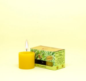 Kit com 2 Velas Amarelas de Citronela