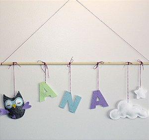 Porta de Maternidade – Corujinha + Nuvem + Estrela