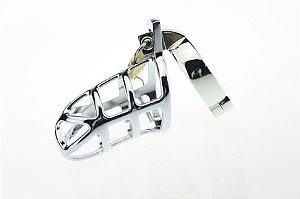 Cinto de Castidade Masculino Metal Design com Cadeado