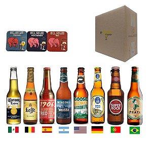 kit Cervejas Importadas P/ Presente 8 Países