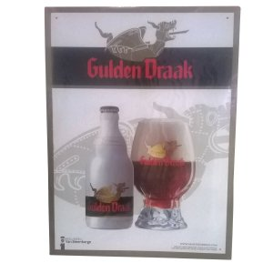 Placa Gulden Draak Metal
