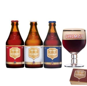 Kit Chimay c/ Copo + 3 bolachas