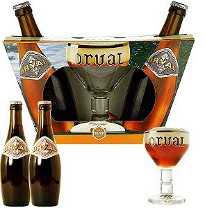 Kit Orval 2 garrafas + 1 taça