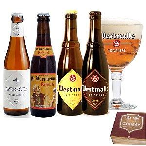 Kit Cervejas Abadias Católicas c/ copo Westmalle