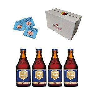 Cerveja Belga Chimay Blue 330ml com 4 unids