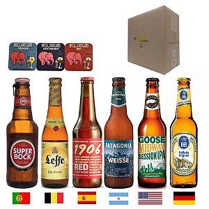 kit Cervejas Importadas P/ Presente Vários Países