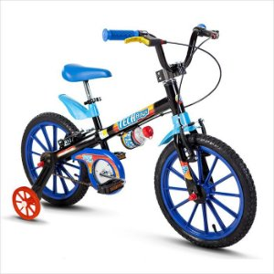 Bicicleta Nathor R16 Tech Boys Azul/preto
