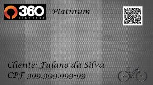 2 - 360 Bike Shop - Cartão Platinum - 1 Bike