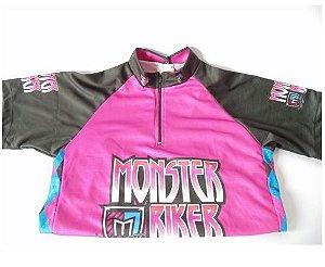 Camisa Infantil Monster Biker Feminina