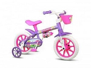 Bicicleta Infantil Violet Nathor Aro 12 Violeta/rosa