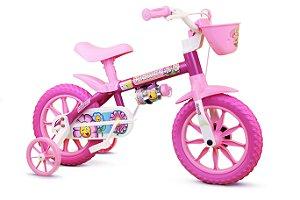 Bicicleta Infantil Flower Nathor Aro 12 Feminina