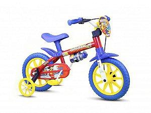 Bicicleta Infantil Fireman Nathor Aro 12 Verm/azul