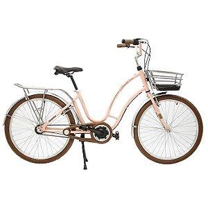 Bicicleta Feminina Aro 26 Nathor Antonella Rosa