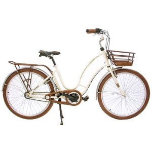Bicicleta Retrô Antonella Passeio Nathor R26 3v Nexus Pérola