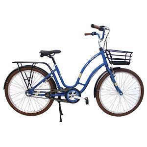 Bicicleta Retrô Anthon Passeio Nathor R26 3v Nexus Azul