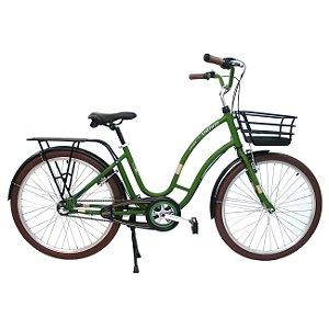 Bicicleta Retrô Anthon Passeio Nathor R26 3v Nexus Verde