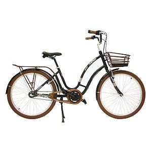 Bicicleta Retrô Anthon Passeio Nathor R26 3v Nexus Preta