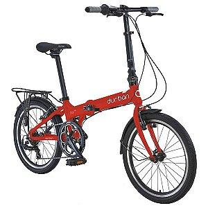 Bicicleta Dobrável Durban Bay Pro R20 Alumínio Vermelho