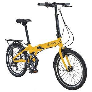 Bicicleta Dobrável Durban Bay Pro R20 Alumínio Amarelo