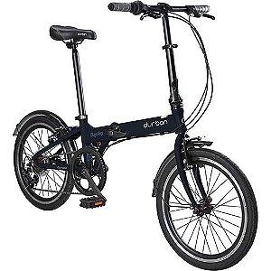 Bicicleta Dobrável Aro 20 Durban Bay Pro 7 Velocidades Azul Marinho