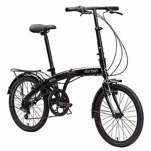 Bicicleta Dobrável Aro 20 Durban Eco+ 6 Velocidades Preta