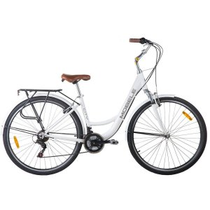 Bicicleta Mobele City Branca 21 Velocidades