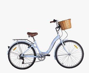 Bicicleta Mobele City Cycling/Hit Azul 7 Velocidades