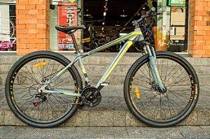 Bicicleta Mobele Rhino Cinza Com Verde