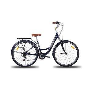 Bicicleta Mobele City Azul Marinho 21 Velocidades