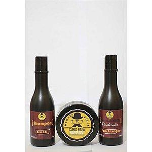 Kit Shampoo, Hidratante e Pomada Black