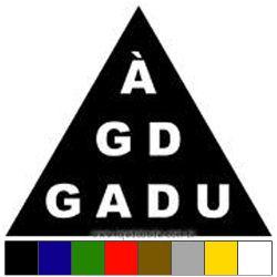 Adesivo - À G.D. G.A.D.U.