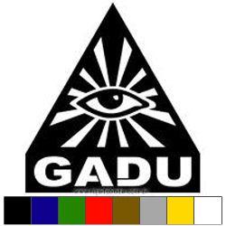Adesivo G.A.D.U. - Olho que Tudo Vê