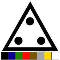 Adesivo Triângulo e 3 Pontos