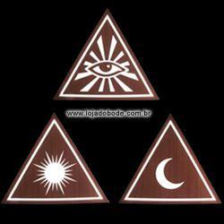 Conjunto Deltas - Olho que Tudo Vê - Sol - Lua - Iluminado (LED)