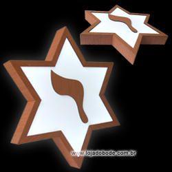 Estrela de Seis Pontas com Yod - Iluminado (LED)