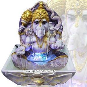 Fonte Ganesha com Iluminação