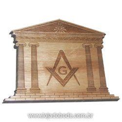 Templo Maçônico - Quadro em Madeira