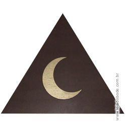 Delta (Triângulo) em madeira com Lua em dourado