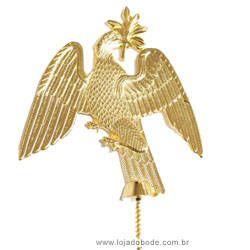 Jóia de Bastão - (Pomba) - Dourada ou Prateada