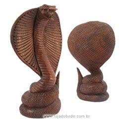 Cobra Naja - 20cm - Madeira