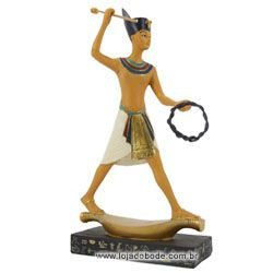Estatueta Guardião Egípcio na Canoa - 24cm