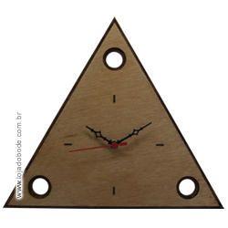 Relógio de Parede - Triângulo 3 Pontos - Madeira
